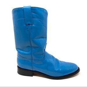 Tony Lama blue leather Roper cowboy boots